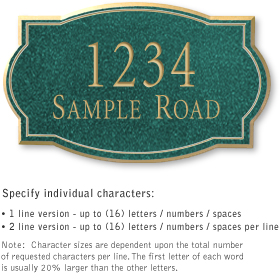 Salsbury 1440JGNS Signature Series Address Plaque
