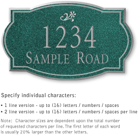 Salsbury 1440JSDS Signature Series Address Plaque