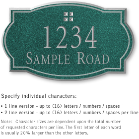 Salsbury 1440JSGS Signature Series Address Plaque