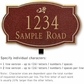 Salsbury 1440MGDL Signature Series Address Plaque
