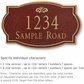 Salsbury 1440MGFS Signature Series Address Plaque