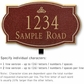 Salsbury 1440MGIL Signature Series Address Plaque