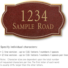 Salsbury 1440MGNS Signature Series Address Plaque