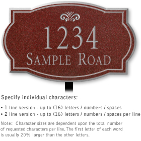 Salsbury 1440MSFL Signature Series Address Plaque