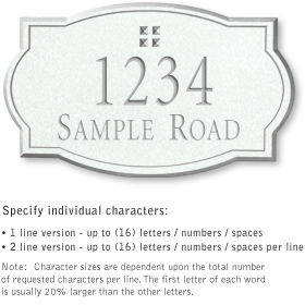 Salsbury 1440WSGS Signature Series Address Plaque