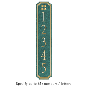 Salsbury 1470JGGS Signature Series Address Plaque