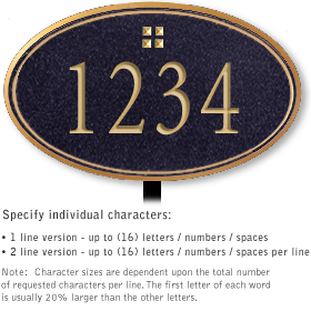Salsbury 1432BGGL Signature Series Address Plaque