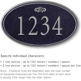 Salsbury 1432BSFS Signature Series Address Plaque
