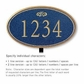 Salsbury 1432CGFL Signature Series Address Plaque