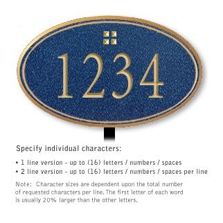 Salsbury 1432CGGL Signature Series Address Plaque
