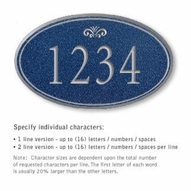 Salsbury 1432CSFS Signature Series Address Plaque