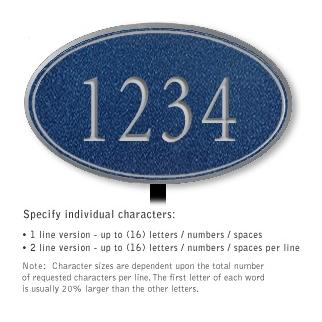 Salsbury 1432CSNL Signature Series Address Plaque