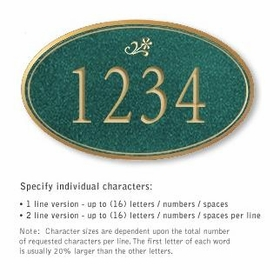 Salsbury 1432JGDS Signature Series Address Plaque