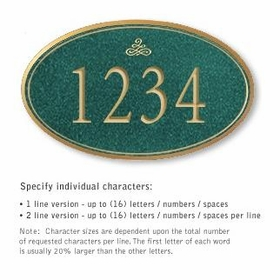 Salsbury 1432JGIS Signature Series Address Plaque
