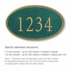 Salsbury 1432JGNS Signature Series Address Plaque