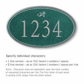 Salsbury 1432JSDS Signature Series Address Plaque