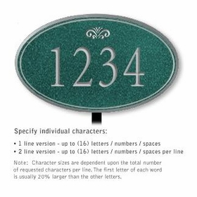 Salsbury 1432JSFS Signature Series Address Plaque