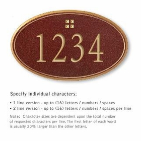 Salsbury 1432MGGS Signature Series Address Plaque