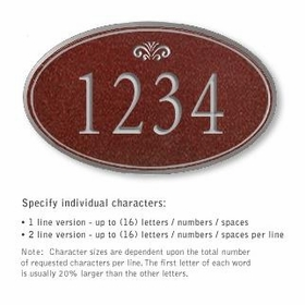 Salsbury 1432MSFS Signature Series Address Plaque