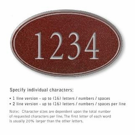 Salsbury 1432MSNS Signature Series Address Plaque