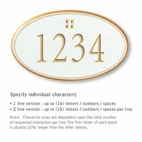 Salsbury 1432WGGS Signature Series Address Plaque