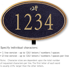 Salsbury 1431BGDL Signature Series Address Plaque