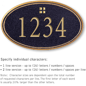 Salsbury 1431BGGS Signature Series Address Plaque