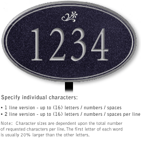 Salsbury 1431BSDL Signature Series Address Plaque