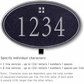 Salsbury 1431BSGL Signature Series Address Plaque