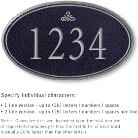 Salsbury 1431BSIS Signature Series Address Plaque