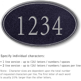 Salsbury 1431BSNS Signature Series Address Plaque
