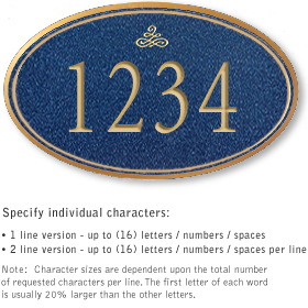 Salsbury 1431CGIS Signature Series Address Plaque
