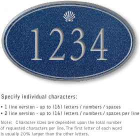 Salsbury 1431CSSS Signature Series Address Plaque