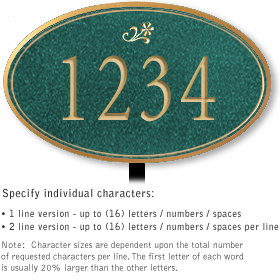Salsbury 1431JGDL Signature Series Address Plaque