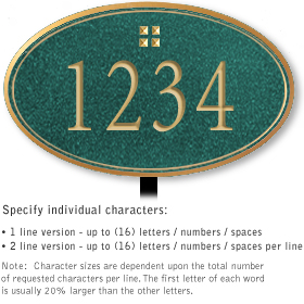 Salsbury 1431JGGL Signature Series Address Plaque