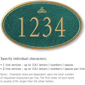 Salsbury 1431JGIS Signature Series Address Plaque