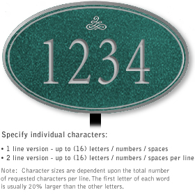 Salsbury 1431JSIL Signature Series Address Plaque