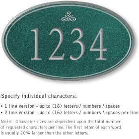 Salsbury 1431JSIS Signature Series Address Plaque