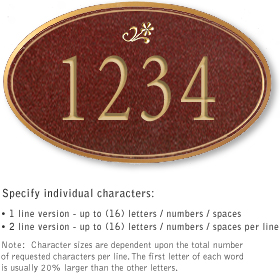 Salsbury 1431MGDS Signature Series Address Plaque