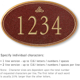 Salsbury 1431MGIS Signature Series Address Plaque