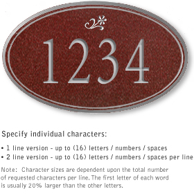 Salsbury 1431MSDS Signature Series Address Plaque