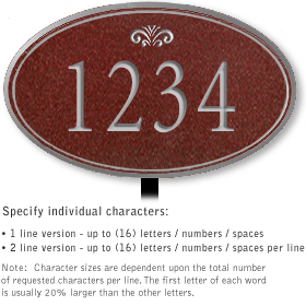 Salsbury 1431MSFL Signature Series Address Plaque