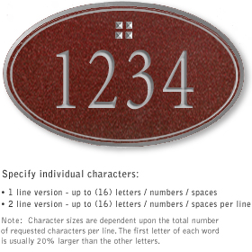 Salsbury 1431MSGS Signature Series Address Plaque