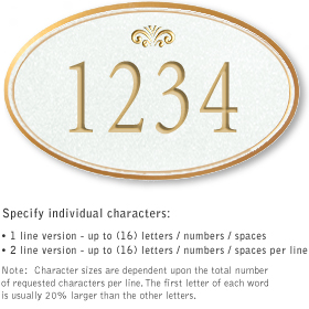 Salsbury 1431WGFS Signature Series Address Plaque