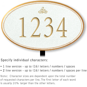 Salsbury 1431WGIL Signature Series Address Plaque