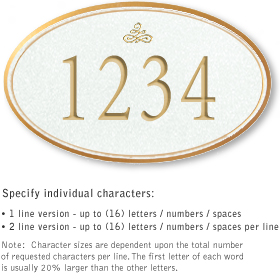 Salsbury 1431WGIS Signature Series Address Plaque