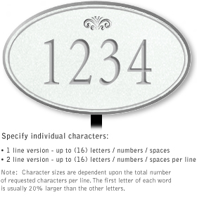Salsbury 1431WSFL Signature Series Address Plaque