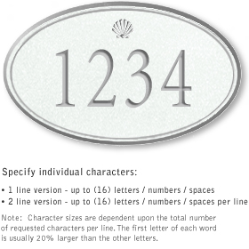 Salsbury 1431WSSS Signature Series Address Plaque