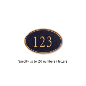 Salsbury 1439BGNS Signature Series Address Plaque