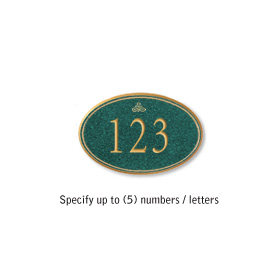 Salsbury 1439JGIS Signature Series Address Plaque